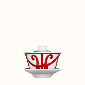 Balcon du Guadalquivir tea cup with lid and saucer