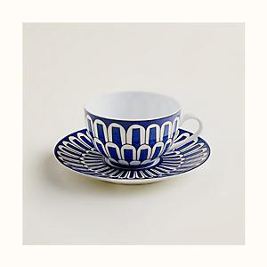 Bleus d'Ailleurs tea cup and saucer