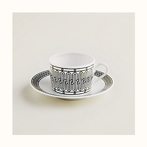 H Deco tea cup and saucer
