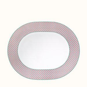 Tie Set oval platter