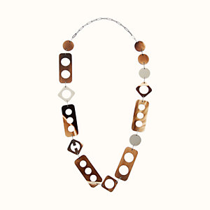 Perforation long necklace