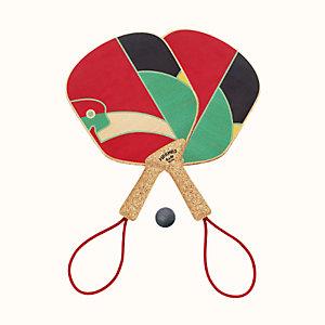 Jeux d'Animaux paddle ball set