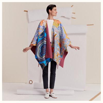 Silk and cashmere cape