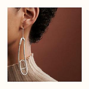 Chaine d'Ancre Punk right mono earring, medium model