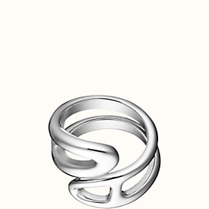 Chaine d'Ancre Twist ring, small model