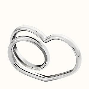 Vertige C?ur double ring, medium model