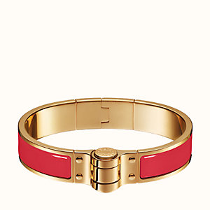 Enamel hinged bracelet