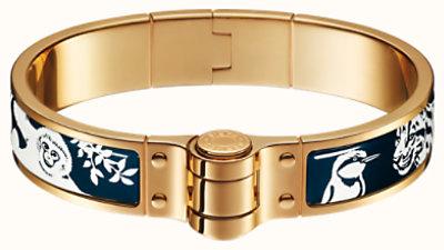 Tendresse Feline Tattoo hinged bracelet