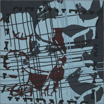 Imprimeur Fou Liquid Puzzle scarf 140