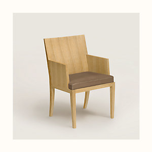 Reeditions J.-M. Frank par Hermes padded chair with armrests