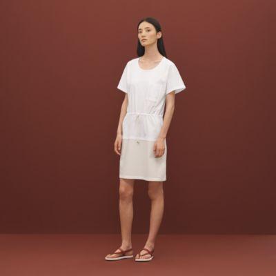 Embroidered pocket dress