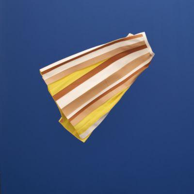 Leather hidden pleats skirt