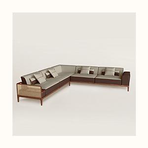 Sofa Sellier 5-seater corner
