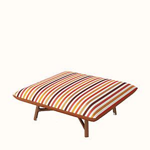 """Les Necessaires d'Hermes """"carre d'assise"""" low stool, medium model"""