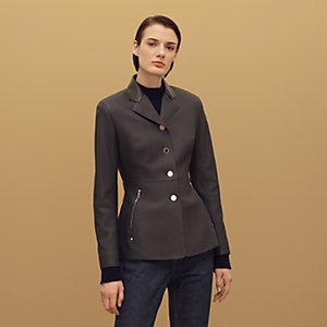 Equestrian leather jacket