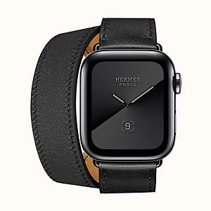 Apple Watch Hermès Series 5 Double Tour 40mm Space Black