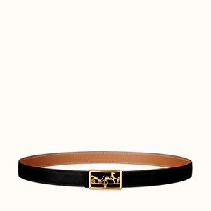 Caleche belt buckle & Cuir de ceinture réversible 24mm