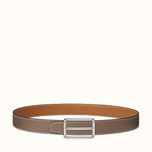 H Rouleau belt buckle & Reversible leather strap 32 mm