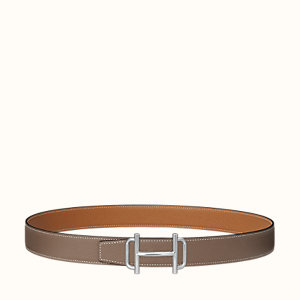 Royal belt buckle & Reversible leather strap 32 mm