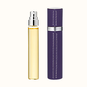 Terre d'Hermes Set of 3 Parfum refills & Refillable leather case