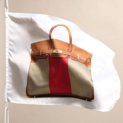 The Contrasting Canvas Panel In Middle Of Birkin Flag Bag Is A Visual Reminder These Crossings
