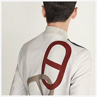 ' Maillons Chaine d'Ancre ' Incrustes Rib trim jacket - worn