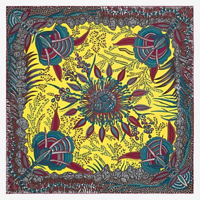 Flowers of South Africa scarf 90 -