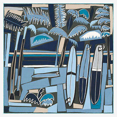 Sea, Surf and Fun scarf 90 -