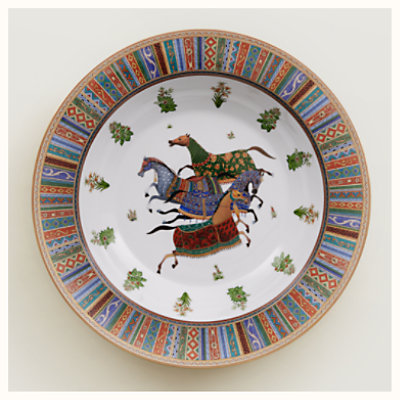 Cheval d'Orient round deep platter, large model