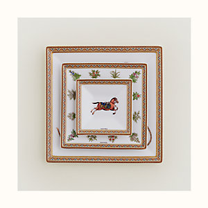 Cheval d'Orient set of 3 square plates