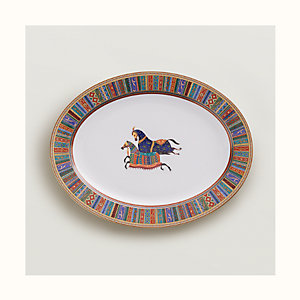 Cheval d'Orient oval platter, large model