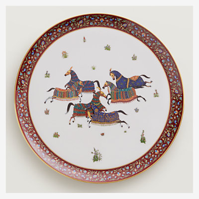 Cheval d'Orient large round tray -