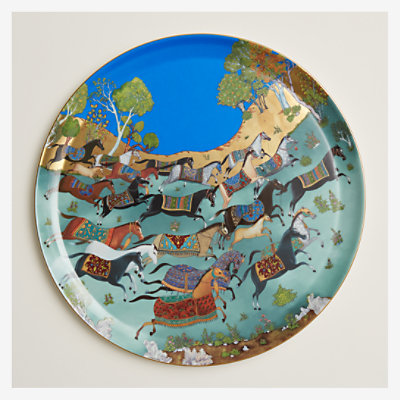 Cheval d'Orient round platter, large model -