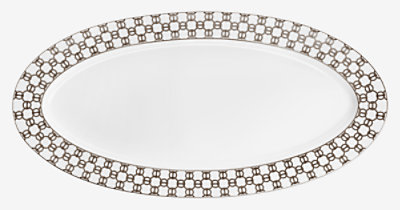 Fil d'Argent oval platter, large model -