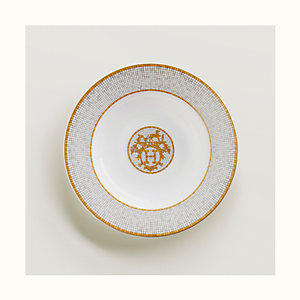 Mosaique au 24 gold soup plate