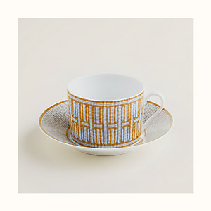 Mosaique au 24 gold breakfast cup and saucer