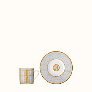 Mosaique au 24 gold coffee cup and saucer