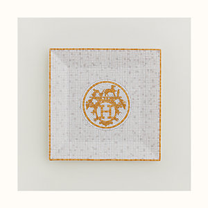Mosaique au 24 gold square plate