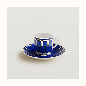 Bleus d'Ailleurs coffee cup and saucer