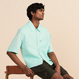Short-sleeve overshirt