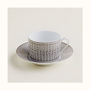 Mosaique au 24 platinum breakfast cup and saucer