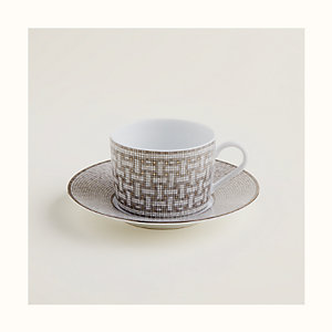 Mosaique au 24 platinum tea cup and saucer