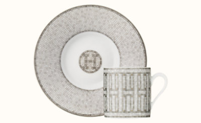 Mosaique au 24 platinum coffee cup and saucer
