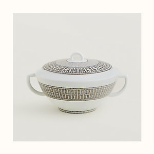 Mosaique au 24 platinum soup tureen