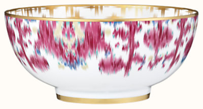 Voyage en Ikat salad bowl, large model