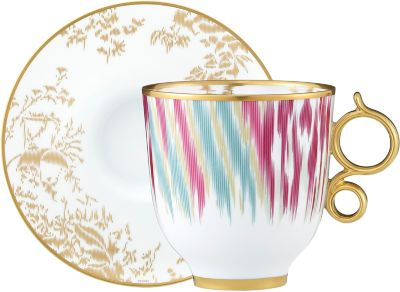 Voyage en Ikat tall cup and saucer -  sc 1 st  Hermes & Luxury tableware brand new tableware creations - Official Hermès