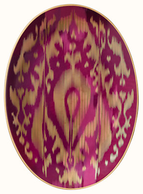 Voyage en Ikat oval platter, medium model