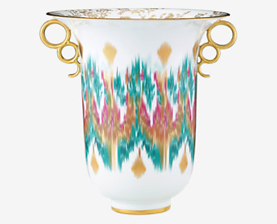 Voyage en Ikat vase, large model -