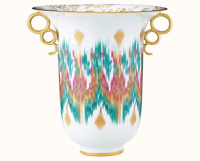 Voyage en Ikat vase, large model