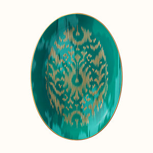 Voyage en Ikat oval platter, large model